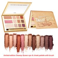 Wholesale High Quality Queen Size - Good quality tarte 12 color eye shadow high-performance naturals limited-edition Swamp Queen eye & cheek palette with brush DHL free