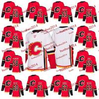 Wholesale Xl Wine Glasses - Calgary Flames 2017-2018 Season 50 Mark Rassell 51Tanner Glass 53 Oleg Yeven 54 Rasmus Andersson 55 Dylan Olsen 56 Lomberg Hockey Jerseys