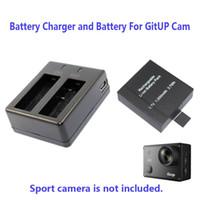Wholesale rechargable cameras - Wholesale- Free Shipping!!1000mAh Backup Rechargable Li-on Battery For GitUP Git2 Sport Camera DV+1pcs Battery Charger