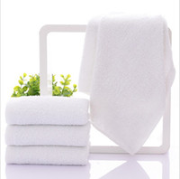 face de banho venda por atacado-32 * 70 cm 100% Algodão Mão Rosto Branco Toalha de Cabelo Toalhinha Hotel Favor Suprimentos 10 pçs / lote JF007