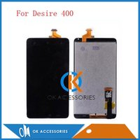 Wholesale T328e Desire X - High Quality Touch Screen Digitizer+LCD For HTC Desire X T328e Desire 310 Desire310 with frame Single SIM Desire 400