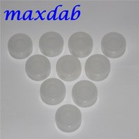 Wholesale Transparent silicone platinum cured container clear silicone container storage jar ml clear silicone oil jar for wax vaporizers