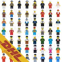 Wholesale Building Blocks Police - Career Roles Figures Collection 56 Roles Minifig Doctor Racer Worker Teacher Chef Police Nurse Stewardess Mini Building Blocks Figures