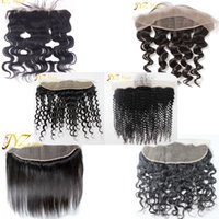 Wholesale Dyed Peruvian Lace Closure - JYZ Lace Frontal Closure Bleached Knots With Baby Hair Can Be Dyed Frontal Ear to Ear Body Loose Deep Wave Straight Curly