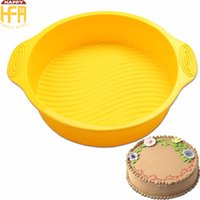 Wholesale Rubber High Temperature - Silicone Cake Pan Round Baking Molds Food Grade High Temperature Resistant Round Cake Pan Baking Mould Eco-Friendly Bakeware