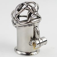 Wholesale New Bondage - New Penis Piercing Stainless Steel PA Lock Chastity Device Bondage Sex Toys For Men Penis Bondage