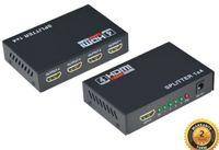 hdmi tekrarlayıcıları toptan satış-Yüksek hızlı Tekrarlayıcı Amplifikatör 1080 P 3D HDMI Splitter Switcher PC DVD Için 1x4 HDTV PS3 XBOX