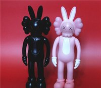 2pcs Kaws Original Fake Accomplice Figura de Acción Companion Collection Doll Christmas Gifts Cumpleaños Juguetes Gloomy-Bear Bearbrick