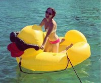Wholesale Duck Float - Inflatable Duck new inflatable pool toys Swimming Ring For Adult Pool Float 210cm*170cm*130cm 770