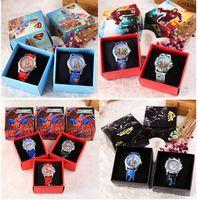 Wholesale Avengers Party Favors - New Avengers Spiderman Batman Superman quartz Wristwatch With Boxes Party Favors Gift