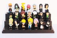 Wholesale Japanese Naruto Toys - 21pcs set Japanese Anime Naruto PVC Action Figure Toys Gaara Uzumaki Sasuke Orochimaru Figures 5~6cm Free Shipping