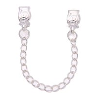 Bracciale in argento con perline 30pcs / One Borsa Spray Safety Chain Fit Charm Bracelet Bead 7,8 cm 150168