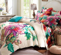 Wholesale Oil Painting Queen - 3D oil activated painting comforters bedding sets black tulip king queen size comforter set bed linen sheet quilt duvet cover bedclothes