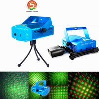 Wholesale Laser Light Star Effect - Voice-activated & Auto Model 150mW Red and Green Mini Laser Stage Light Stars LED Effects Lighting for Bar Club Party Room Joyful Lights