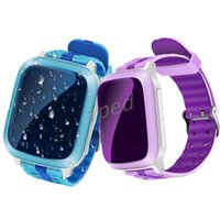 Wholesale android wifi phone watches online – DS18 Smart Phone Watch Kid Wristwatch Anti Lost GPS WiFi Tracker Clock For Kids SOS SIM Card Smartwatch For iOS Android Children Free DHL