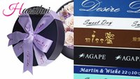 Wholesale Cheap Printed Grosgrain Ribbon - 1 2''(13mm) wholesale cheap grosgrain plane ribbon Personalized Favors Printed Ribbon for Party Wedding Baby Shower Favor 100yards lot