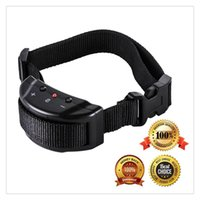 Wholesale Barking Dog Stopper - 2017 New Pet Dog No Bark Collar Trainer Adjustable Sensitivity Control Sound Bark Stopper Collar For Large And Medium Dogs