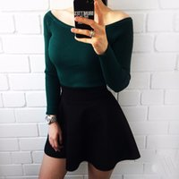 Wholesale Solid Pull Overs - Wholesale-Multi Colors Autumn and Winter Fashion Basic Women Sweater Pull Over Woman Casual Knitted Sweater FullSleeve Outwear Tops Female