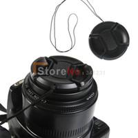 filtros de lente de 55mm al por mayor-Wholesale-100pcs 55mm Center Pinch Snap en la tapa frontal de la lente para 55mm Lens / Filters