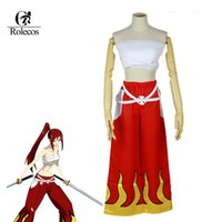 Rolecos fatta a mano Anime giapponese Halloween Fairy Tail Erza Scarlet Cosplay Costume per le donne