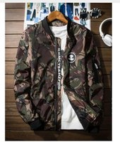 Wholesale Color Collage - Thin Camouflage Jackets Men New 2017 Fashion Hip Hop Suit High Street Collage Jacket Slim Fit Luxury Waterproof Male Jacket Coat