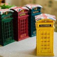 banka para kasası toptan satış-Şık Vintage Posta Kutusu Para Tasarrufu Kumbara Gevşek Değişim Mağaza Para Kutusu Hediye Zanaat Ev Dekorasyon