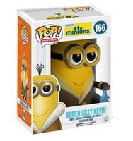 Wholesale Minions Kevin - New hot sale FUNKO Pop Despicable Me Minions Bored silly Kevin Minions Boxed PVC Collection 10CM gift for children free Shipping