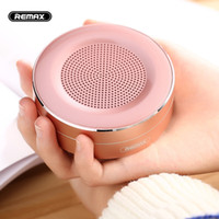 Wholesale Bluetooth Speaker Support Tf Card - Original REMAX M13 Wireless Bluetooth Speakers Portable Mini metallic support TF card HD Sound Transport Call Function Speaker with Mic