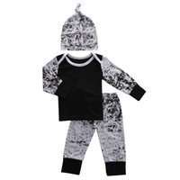 Wholesale One Piece Summer Pajamas - Toddler Boys Clothing Kids Clothes Set Baby Boutique Tracksuit Next Infant Outfit Long Sleeve Legging Pants One Year Kid Pajamas