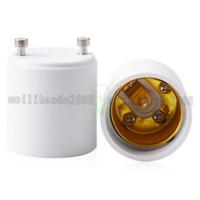 Wholesale Gu24 Base Led Bulb - NEW GU24 to E26 GU24 to E27 Lamp Holder Converter Base Bulb Socket Adapter Fireproof Material LED Light Adapter Converter MYY