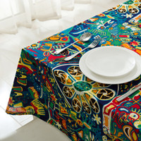 Wholesale Underwater World Printed Tablecloth Table Runner Cotton and Linens Table Cover Wedding Christmas Decorations for home