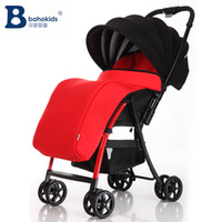 Wholesale Stroller Shock Absorbers - Hot sell Baby stroller cart Folding car Deluxe Baby Stroller with Good Shock Absorbers and High landscope