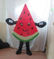 Wholesale Watermelon Fancy Dress Costume - Cute Fruit Watermelon Melon Mascot Costume Fancy Birthday Party Dress Halloween Carnivals Costumes With High Quality For Adult