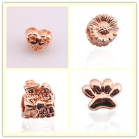 NUEVO 18 K Rose gold love Girasol calabaza dedos del pie pequeño colgante Hollow beads DIY jewelry beads silver for bracelet necklace accessories Jewelry