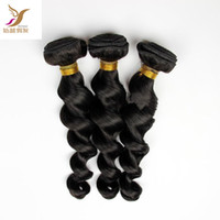 Wholesale discount hair weave extensions for sale - Group buy A Discount Virgin Malaysian Losse Wave Jet Black Hair Weave Human Remy Malaysian Hair Extensions quot Double Weft Hair