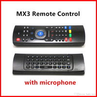 Genuine U1 teclado sem fio mini mosca ar mouse remoto MIC Combo para MXQ Pro M8S Plus + MX3 Amlogic S905 S912 TV Android BOX VS X96 MXQ