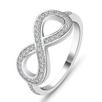 Wholesale Infinite Gifts - 2017 new ring design fashion 925 Sterling Silver Love Infinity Infinite Knot lasies finger ring modern jewelry