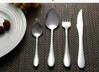 Wholesale Top quality western mirror polished stainless steel flatware cutlery sets dinnerware knife spoon fork kit