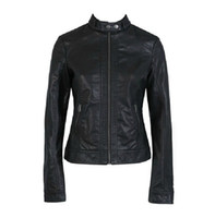 Wholesale Women Leather Outfit - Customization 2016 Autumn outfit new European and American women washed PU leather motorcycle jacket large size XS-XXXL