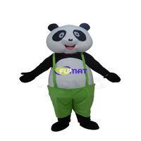 trajes de la mascota del canguro al por mayor-FUMAT Cartoon Panda Mascot Costume Animal Red Kangaroo Mascot Vestido de fiesta Navidad Año Nuevo Disfraces Imagen Personalización