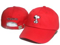 Wholesale Trucker Hat Embroidery - 2017 Cartoon Snoopy Peanuts Snapback Hat Trucker Visors Cap LOVE figureBird fish Embroidery Comic Baseball Hats Bone Golf Hat Gorras Chapeau
