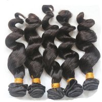 Wholesale Eurasian Loose Wave - 10pcs lot 6a eurasian natural hair extensions100g bundles loose wave hair products no tangle no shedding free shipping