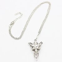 Wholesale Evenstar Gold - Gold Silver Color Alloy Crystal Evenstar Pendant Necklace New Hot Sale Twilight Star Choker Necklaces Women Fashion Jewelry