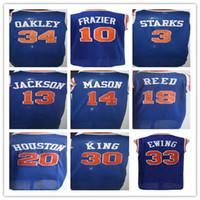 Wholesale Reeds Throwback Jersey - 10 Walt Frazier Basketball Jerseys Throwback 13 Mark Jackson 14 Anthony Mason 19 Willis Reed 20 Allan Houston 3 John Starks 33 Patrick Ewing