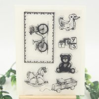 Wholesale Photo Baby Toy - Wholesale- Baby Toys Transparent Clear Silicone Stamp Seal for DIY scrapbooking photo album Decorative clear stamp sheets