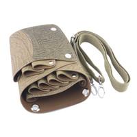 Wholesale Scissors Holster Belt - Wholesale- Leather Barber Scissor Bag Salon Hairdressing Holster Pouch Case with Waist Shoulder Belt