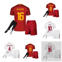 3de4fa162 17 18 new Rome Men Set+socks home soccer Jerseys kit EL Shaarawy 2017 2018  football kit away Set+socks soccer Jerseys shirts white ...