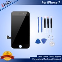 Wholesale Dhl Shipping Items - Hot item-Black Grade A +++ LCD Display Touch Digitizer Frame Assembly Repair For iPhone 7 No Dead Pixels With Tools & Free DHL Shipping