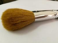 woll make-up pinsel großhandel-50 teile / los große größe mineralien kosmetische pinsel mit wolle und holz griff, puderpinsel, erröten pinsel, weiche make-up pinsel. DHL frei