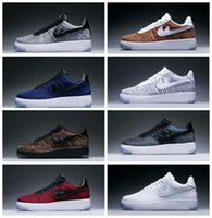 Wholesale China Forces - Fashion Men Shoes Low One 1 Men Women Force China Casual Shoe Fly Designer Royaums Type Breathe Skate knit Femme Homme 36-45
